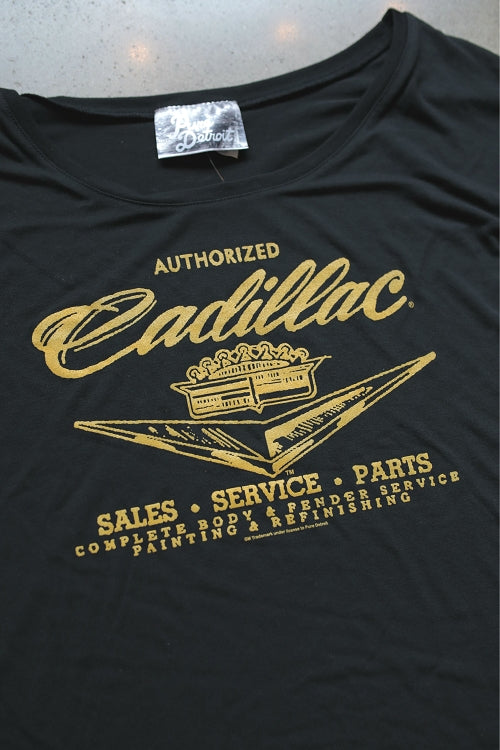 Cadillac Sales Service & Parts Slouchy Tee / Black / Women's - Pure Detroit