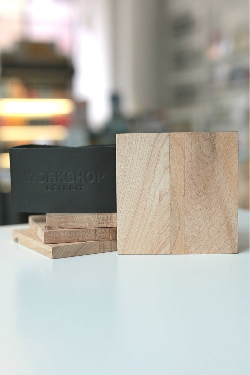 Workshop Detroit Reclaimed Wood Coasters / Stout - Pure Detroit