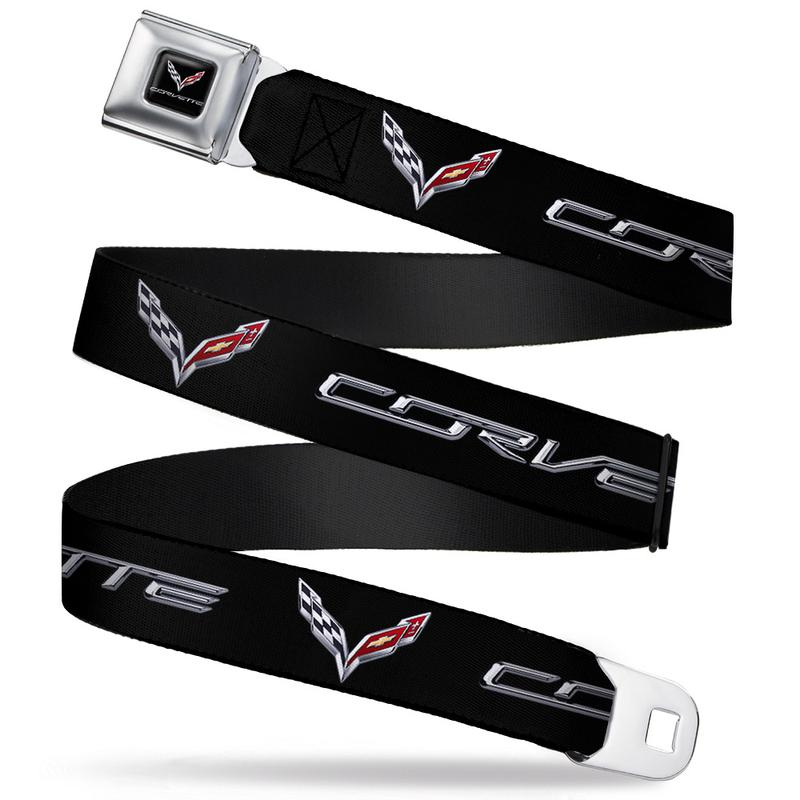 Corvette C7 Seatbelt Belt / Color Logo + Corvette C7 Webbing