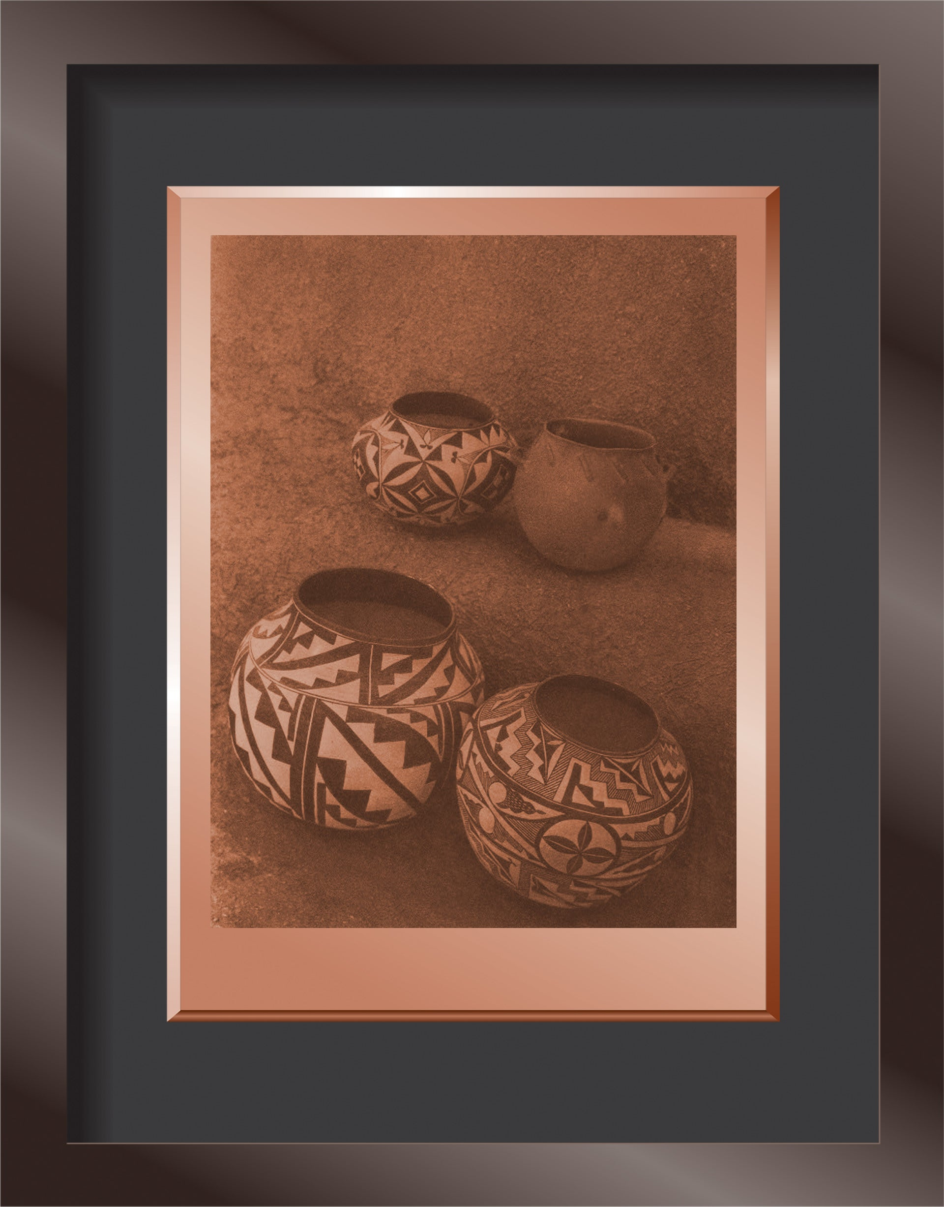 LAGUNA COOKING POT AND ACOMA WATER JARS