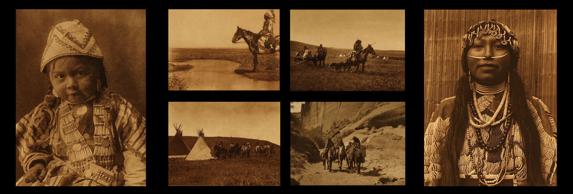 a collage of north american indian images hero 6