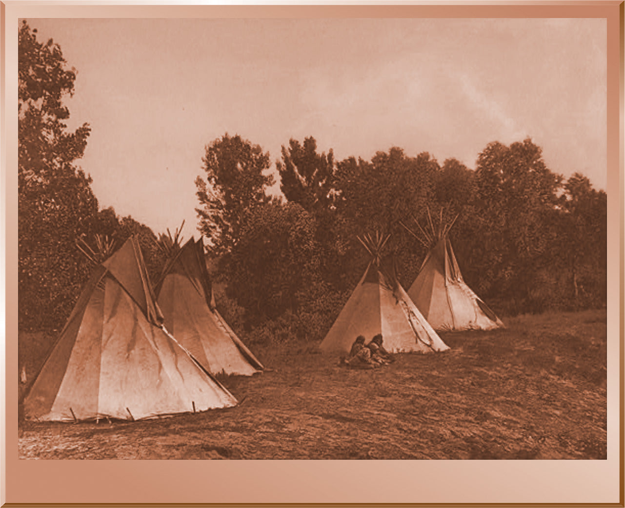 An Assiniboin Camp