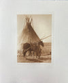 Transporting the Ceremonial Bag and Tipi-Cover of a Blackfoot Society