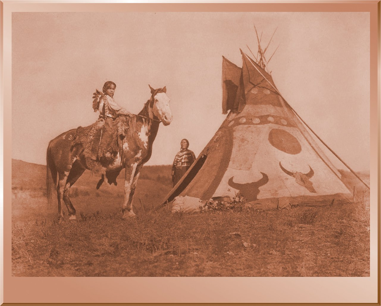 A Painted Tipi - Assiniboin