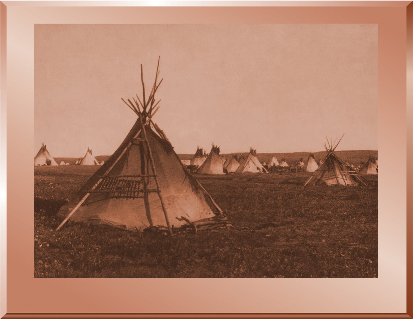 A Prairie Camp – Piegan
