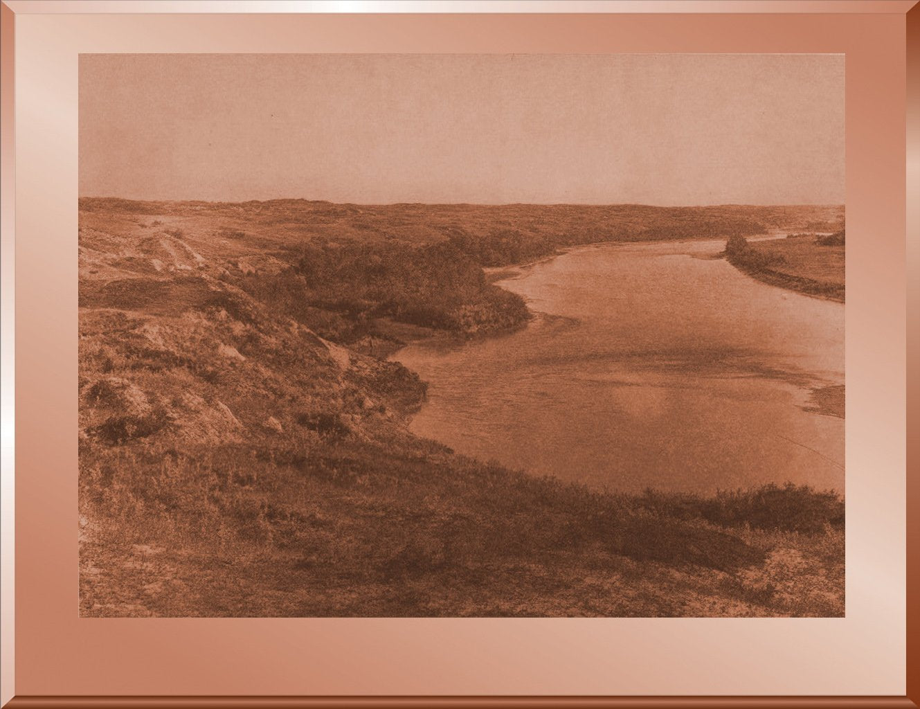 Bow River and the Sand Hills -Blackfoot