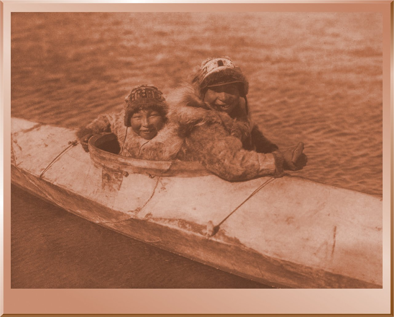 Boys in Kaiak - Nunivak