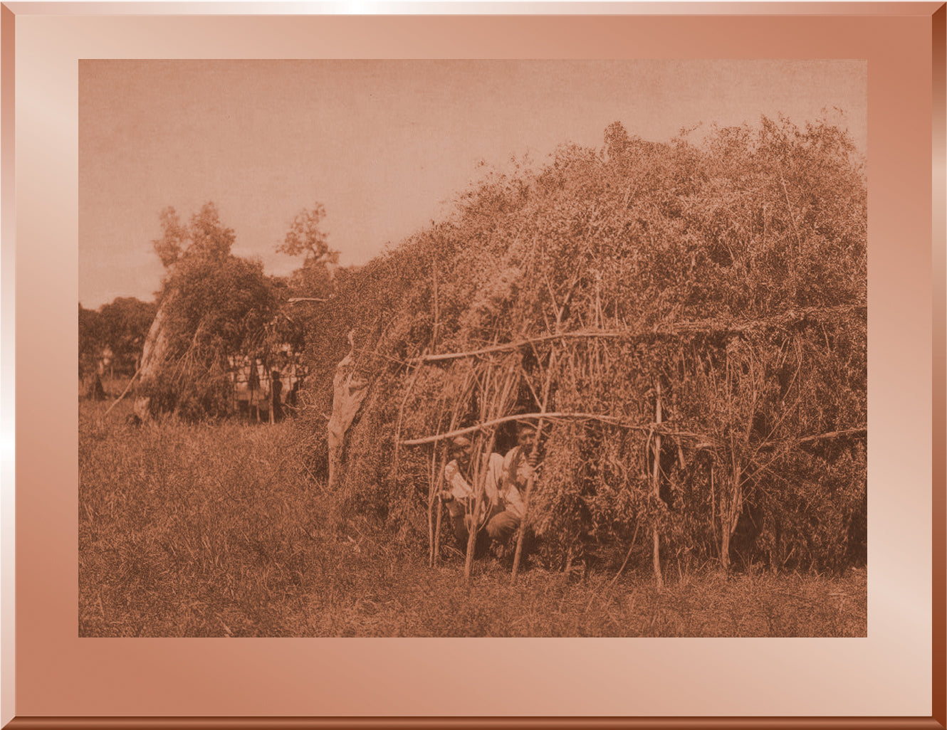 Brush Huts, Animal Dance Encampment - Cheyenne