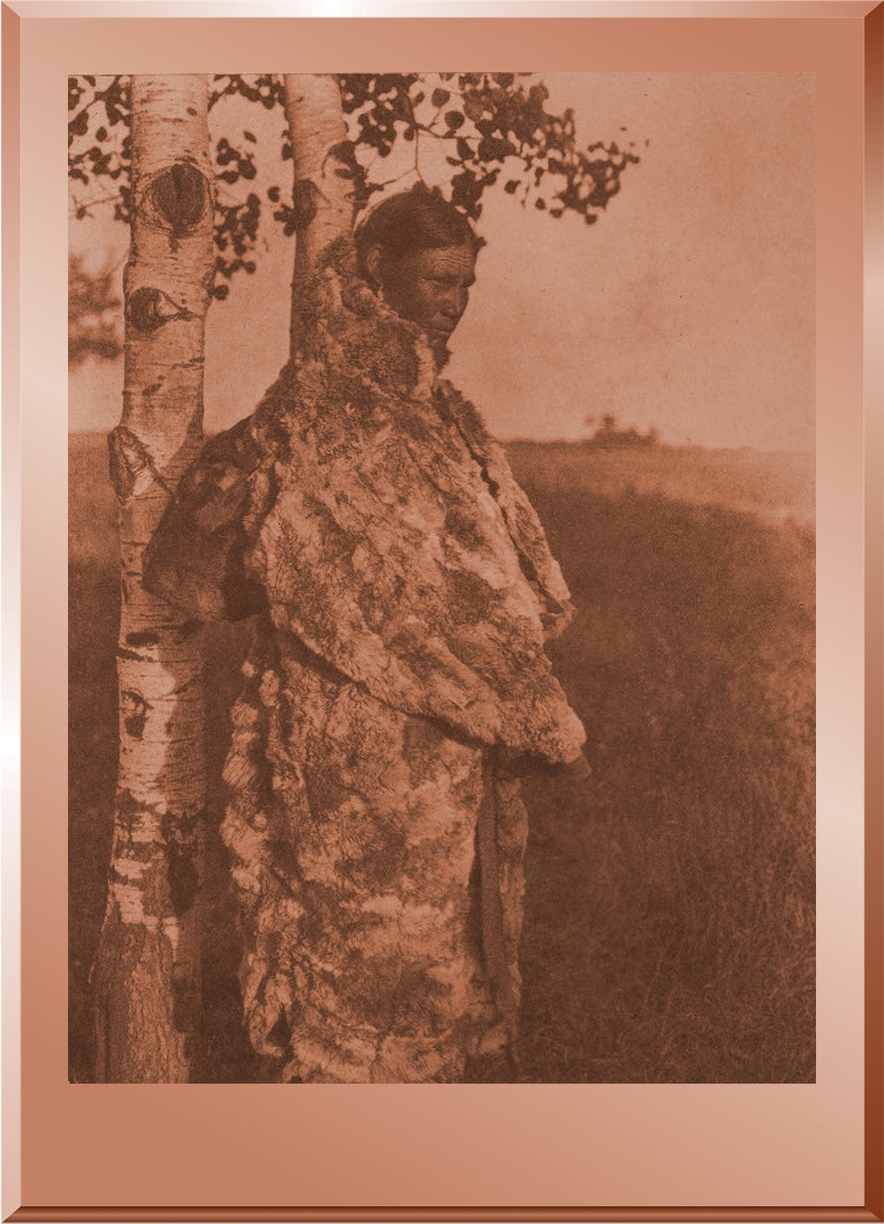 Cree Woman with Fur Robe