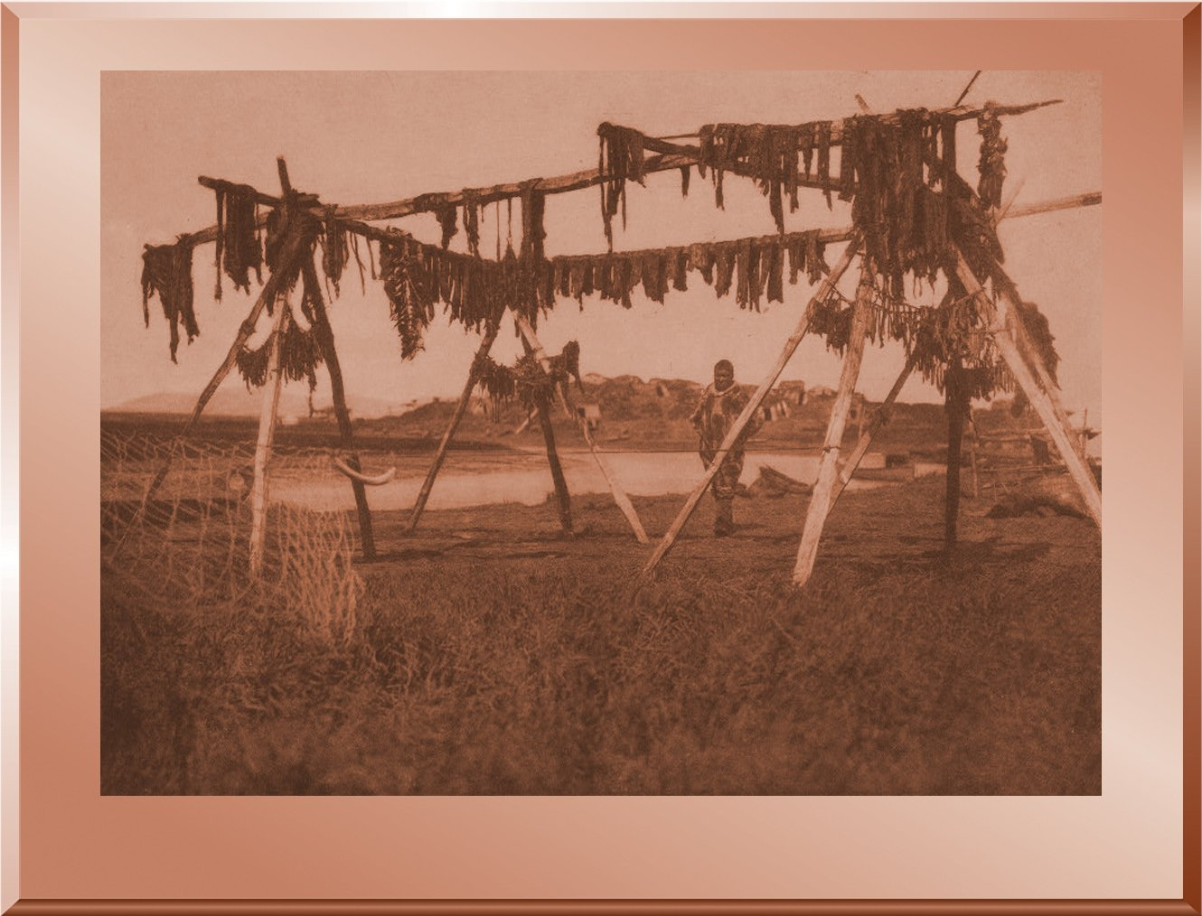Drying Whale Meat - Hooper Bay
