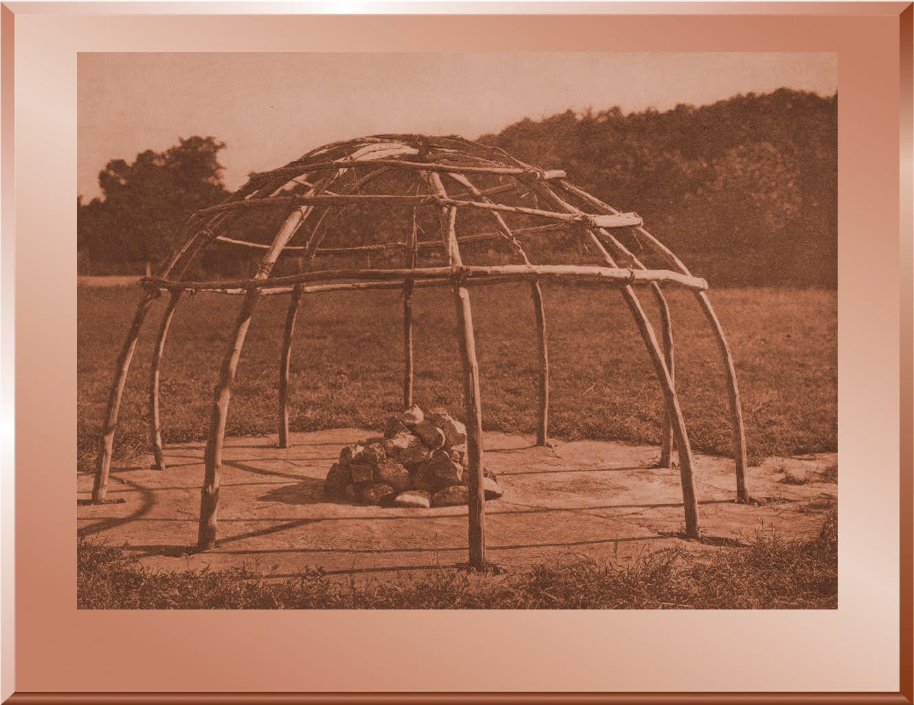 Frame of Peyote Sweat Lodge