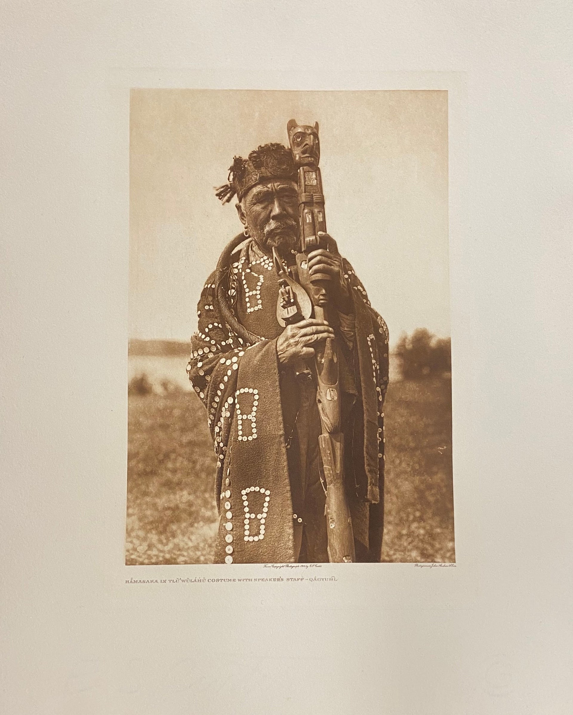 Hamasaka in Tluwulahu Costume with Speaker's Staff - Qagyuhl - Kwakiutl