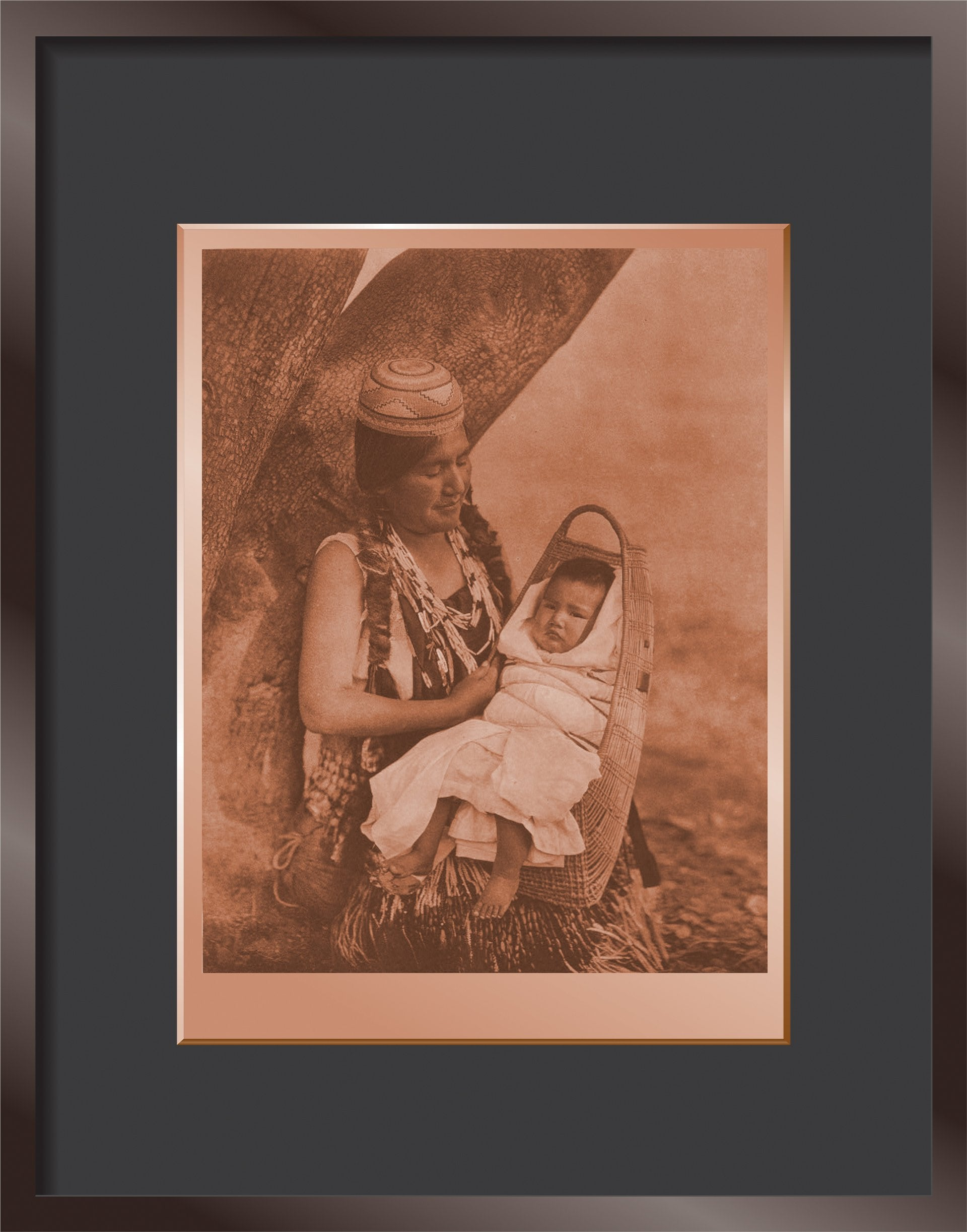 Hupa Mother and Child