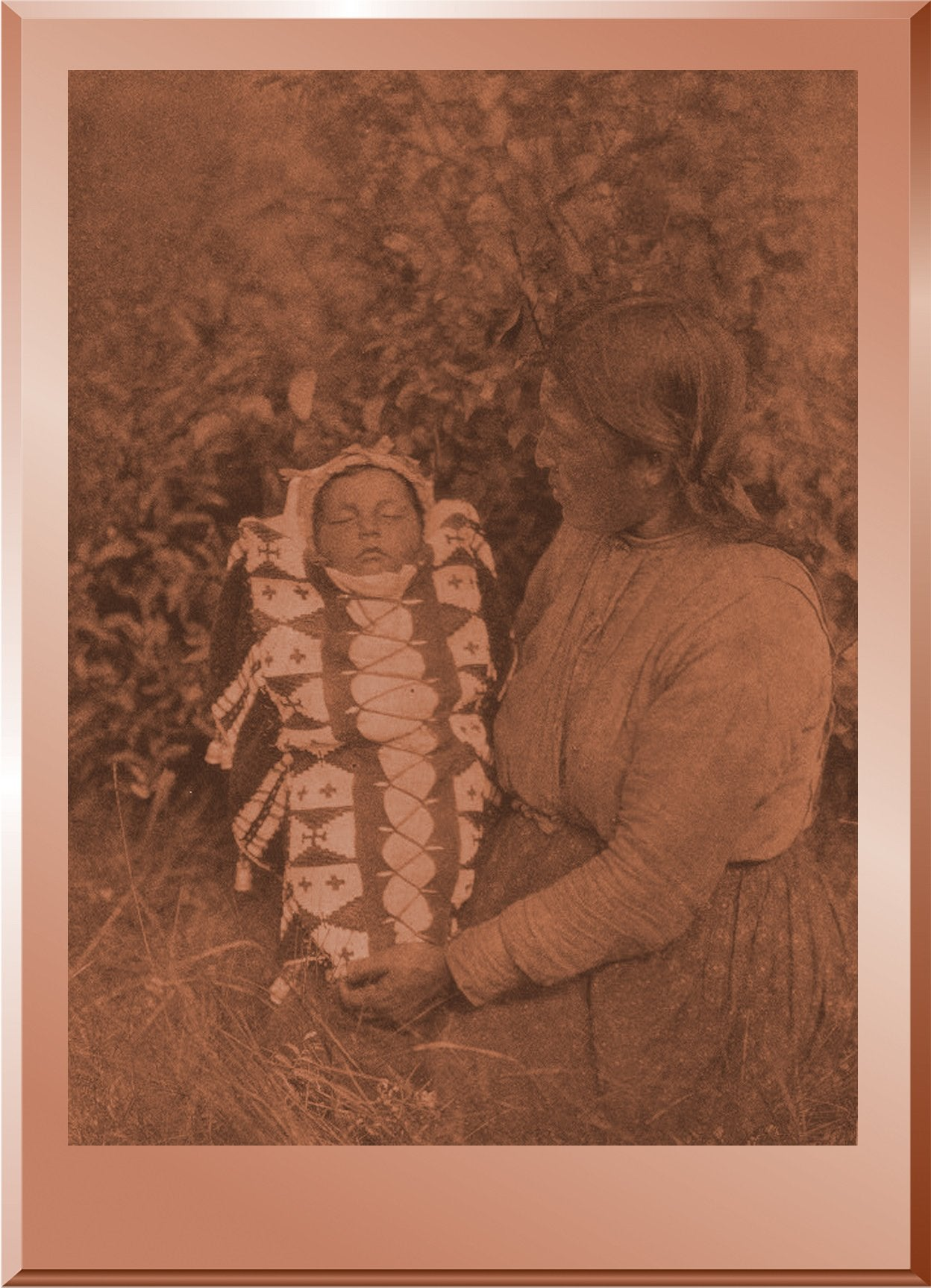 "Isque-sis (""Woman Small"") and Child  - Cree"