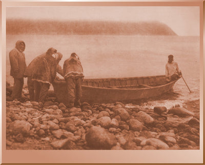 Launching the Boat - Little Diomede Island