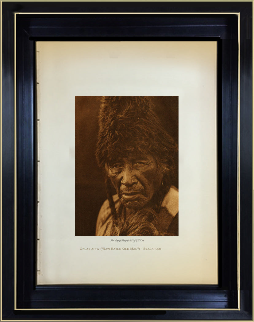 "Oksay-apiw (""Raw Eater Old Man"") - Blackfoot"