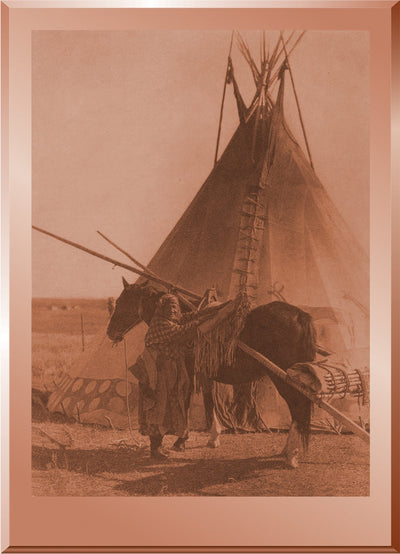 Transporting the Ceremonial Bag & Tipi Cover of a Blackfoot Society