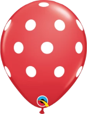 red polka dot balloon