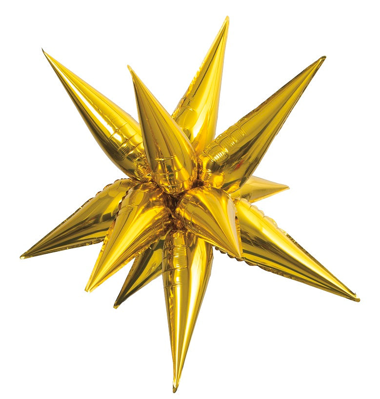 Gold Starburst Balloon