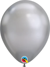 Chrome Silver Latex Balloon