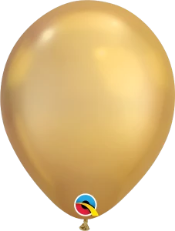 Chrome Gold Latex Balloons