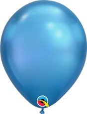 Chrome Blue Latex Balloons