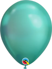 Chrome Green Latex Balloons