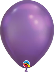 Chrome Purple Latex Balloons