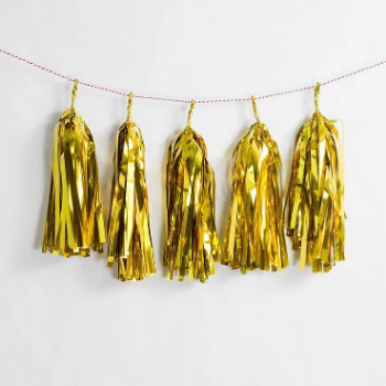 DIY Gold Tassel Garland