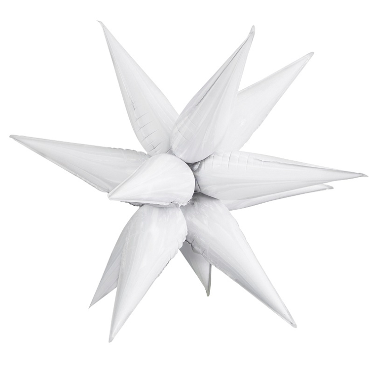 White Starburst Balloon