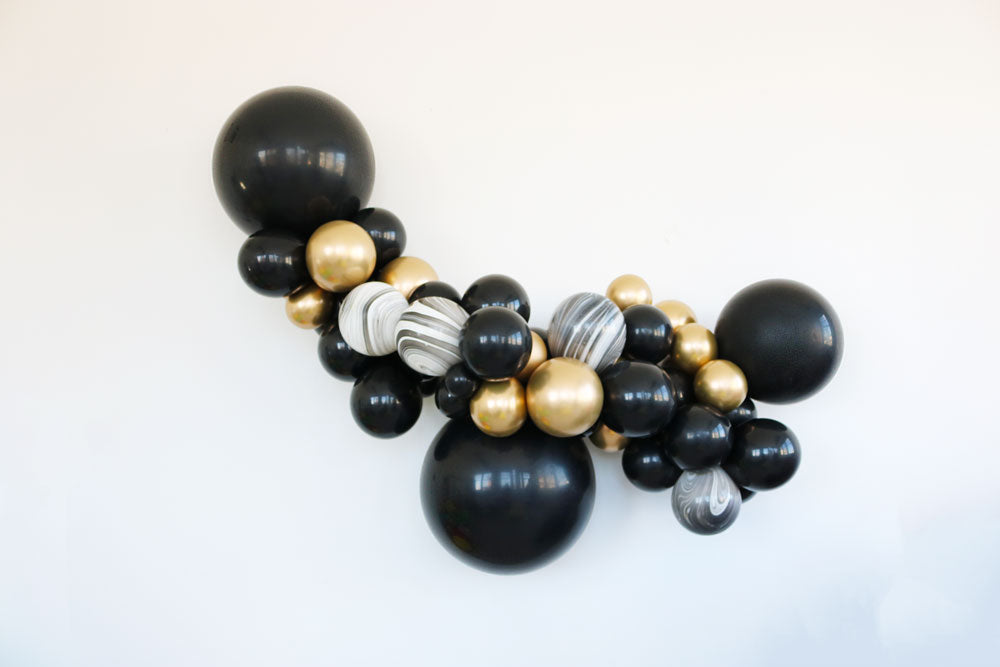 Sable Glitz Balloon Garland Kit