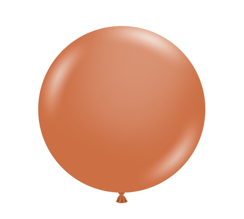 Jumbo Tuftex Burnt Orange Balloon