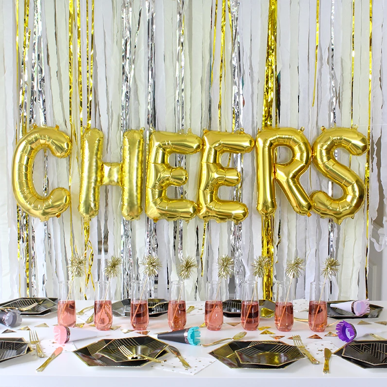 'CHEERS' Mylar Balloon Phrase Pack
