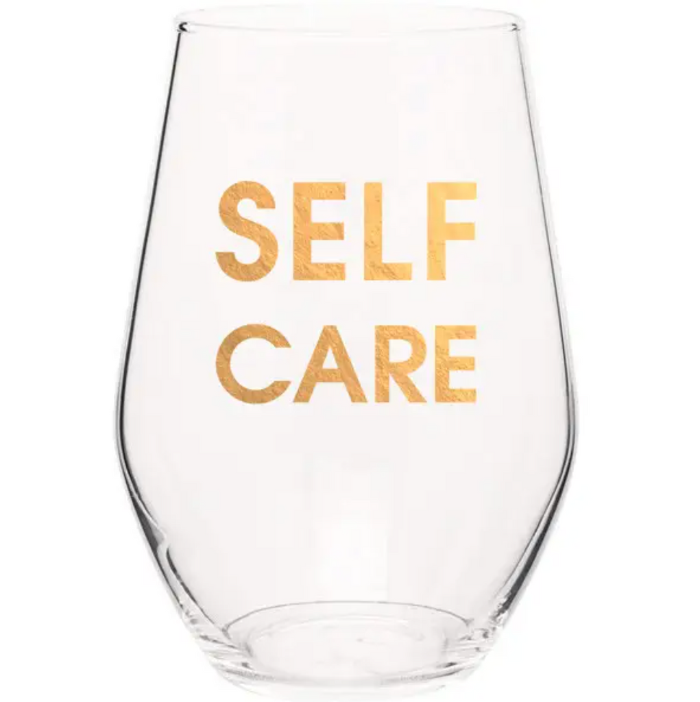 Self Care Wine Glass