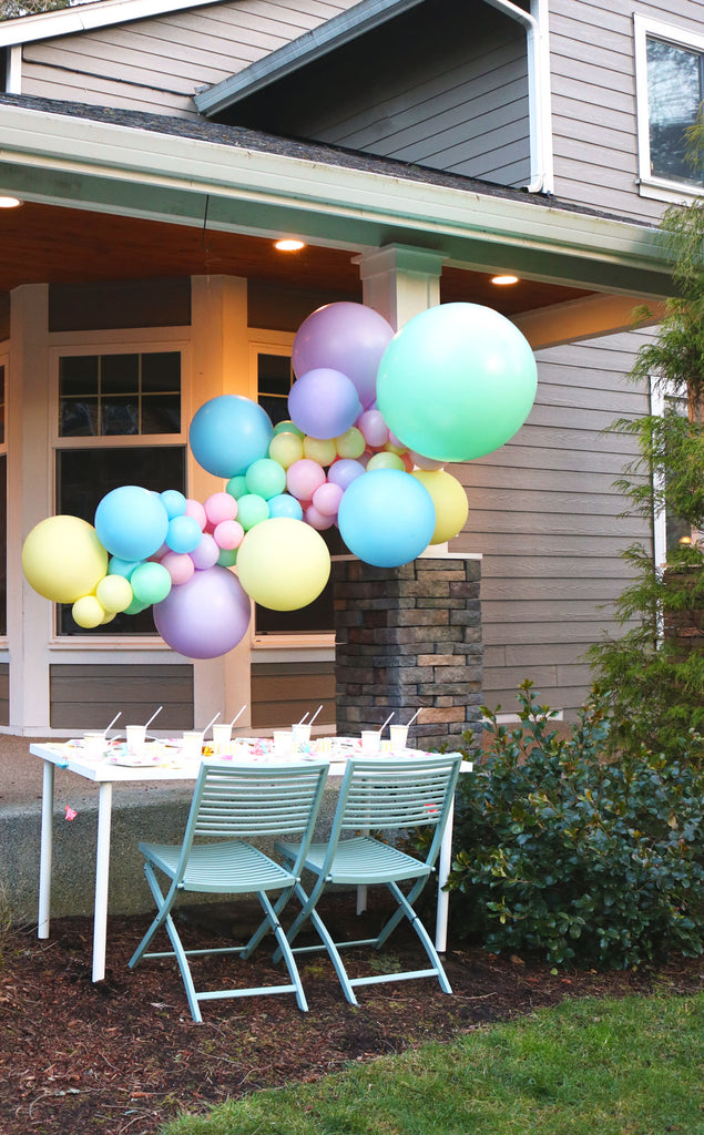 Matte pastel balloon garland kit