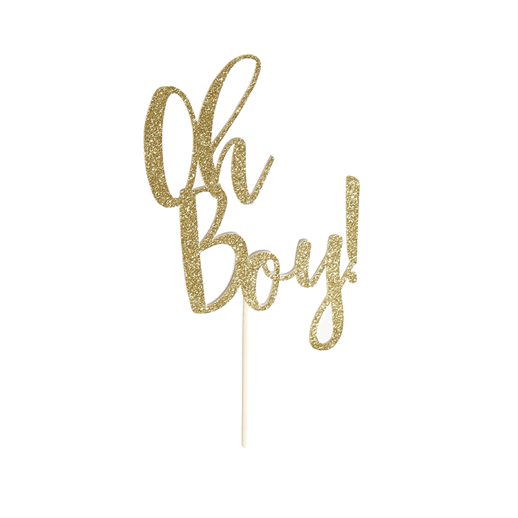 Oh Boy! Cake Topper