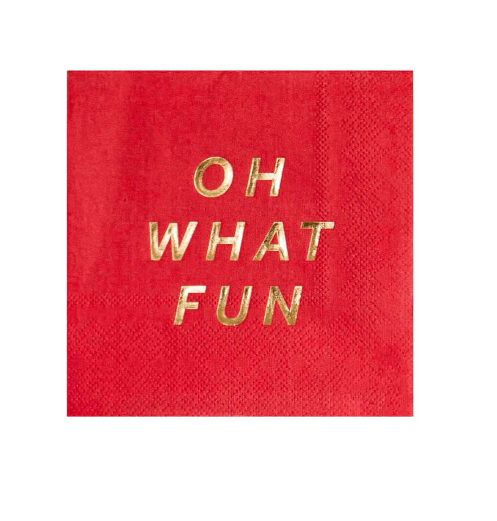 Oh What Fun Cocktail Napkins