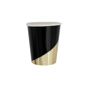 Noir Black Colorblock Cups