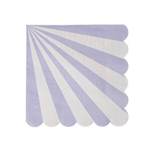 Lavender Stripe Large Napkins