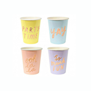 Typographic Party Cup