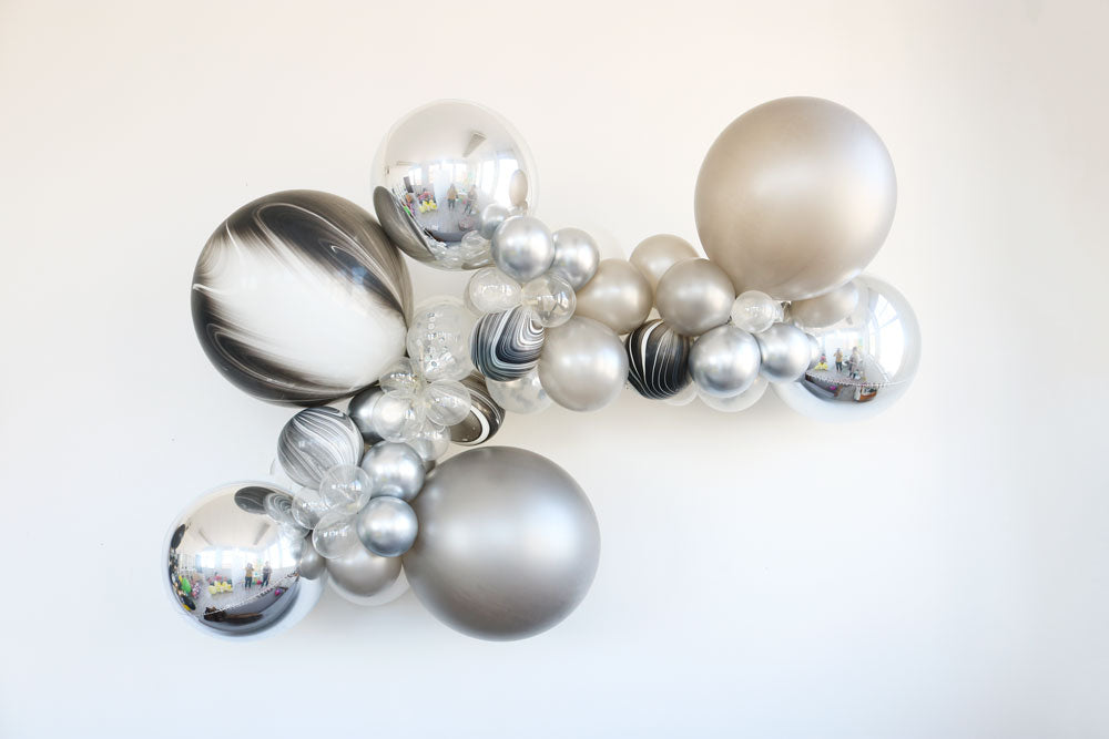 Metallic Marble Balloon Garland Kit