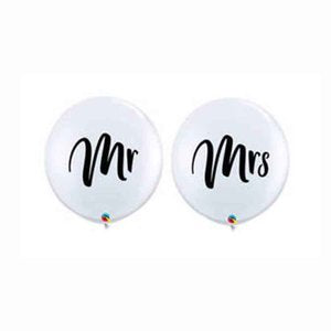 Jumbo Mr. and Mrs. Wedding Balloons