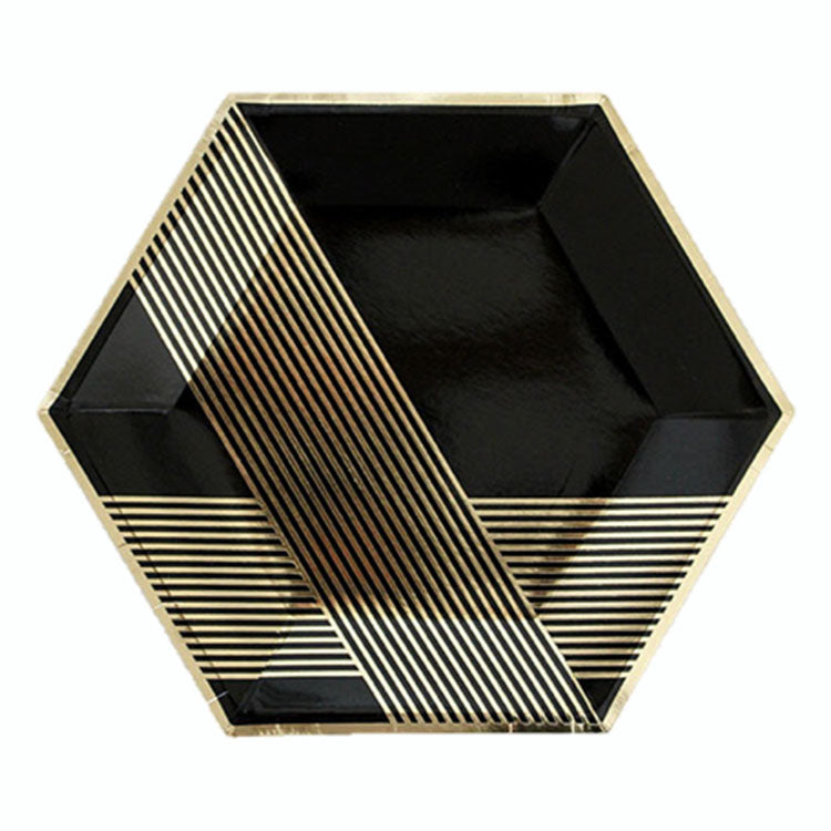 Noir Hexagon Large Plates