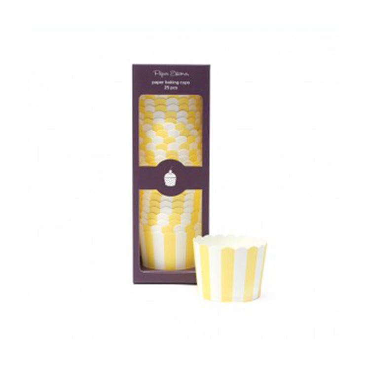 Limoncello Stripe Baking Cups