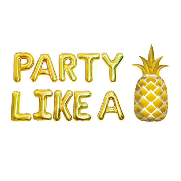 Party Like A Pineapple - Mylar Balloon Phrase Pack