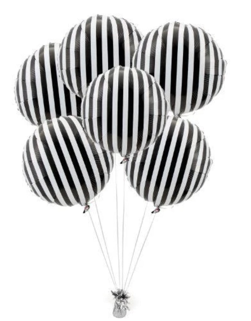 Black and White Striped Balloon