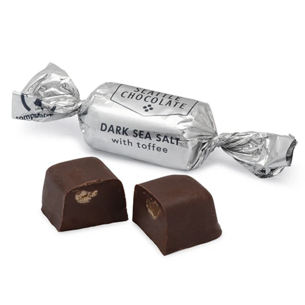 Seattle Chocolate Dark Sea Salt Toffee Truffle Favor