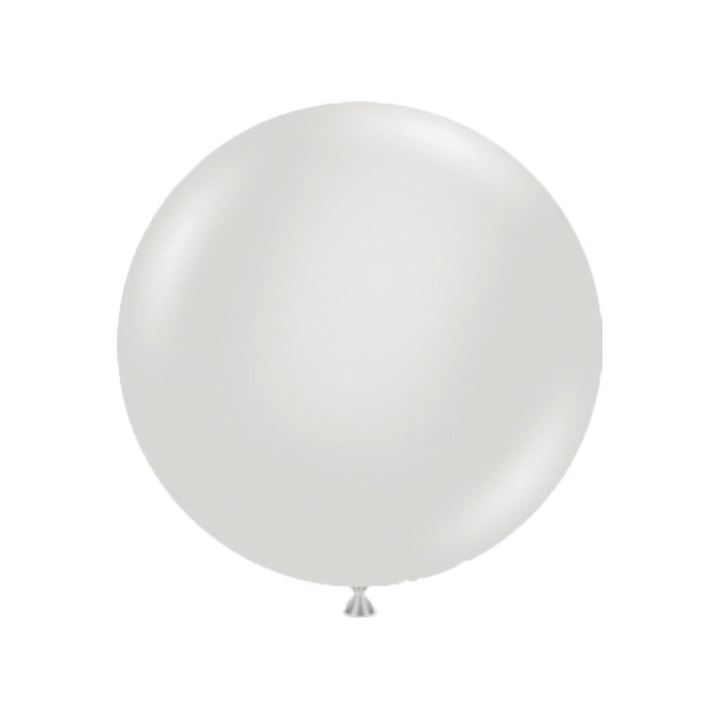 Gray Latex Balloon