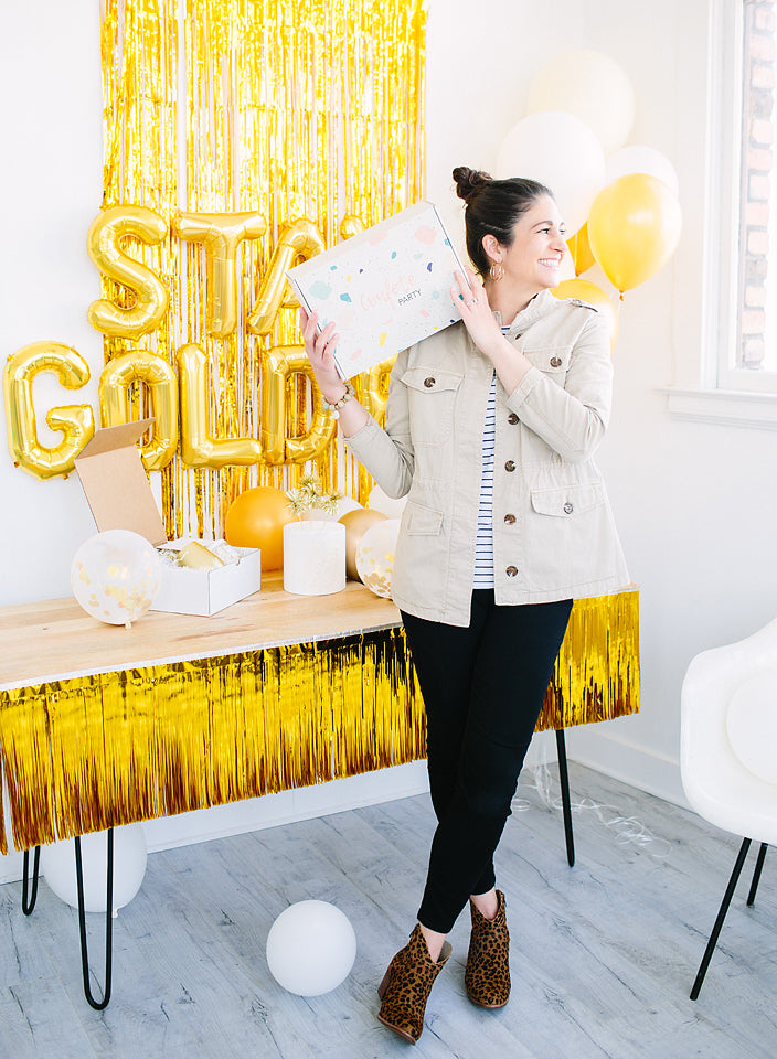 stay golden, gold fringe garland