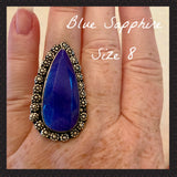 Blue Sapphire Ring 8